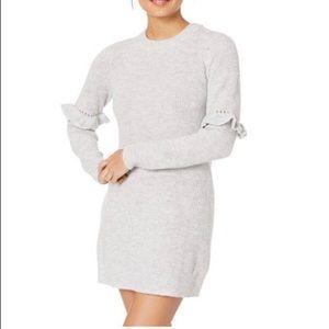 NWT Kensie Ruffle Sleeve Sweater Dress